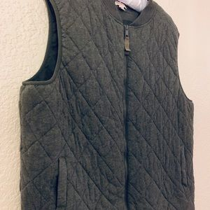 Quilted, puffy gray vest